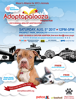 Adoptapalooza Prospect Park - Saturday, August 5, 2017