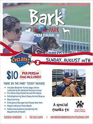 Bark in the Park - Sunday, August 14, 2016