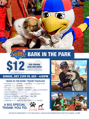 Bark in the Park - Sunday, July 23, 2017