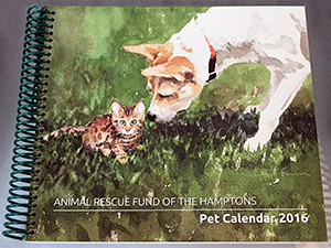 Animal Rescue Fund of the Hamptons: Pet Calendar 2016