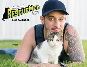 Pillows for Paws: Tails of RescueMen USA 2018 Calendar