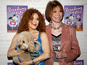 Each year at the fun-filled Broadway Barks, animal rescue groups and Broadway celebrities present adoptable pets to fans gathered in Shubert Alley. (Photo by Rick Edwards)