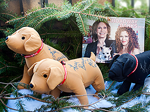 Broadway Barks Autographed Hounds: 2013 Winter Holiday Collection