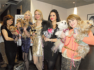 The stars of NYC Media's 'Doggie Moms' made an appearance at the Primping for Pets event at Mark Garrison Salon on February 23 in celebration of I Love NYC Pets Month 2011. (Photo by Dana Edelson)