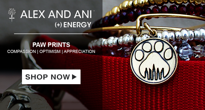 Alex and Ani Charity by Design Paw Prints Charm Bangle