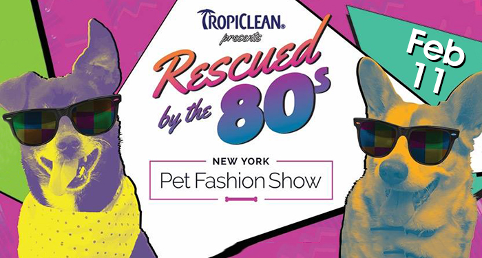 New York Pet Fashion Show - Rescued by the 80s - February 11, 2016