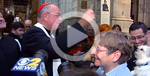 Cardinal Dolan blesses rescue animals