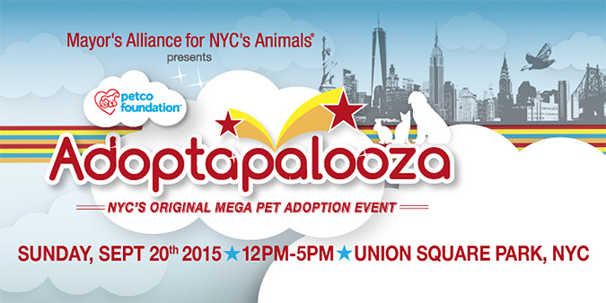 Adoptapalooza - Union Square Park - Sunday, September 20, 2015