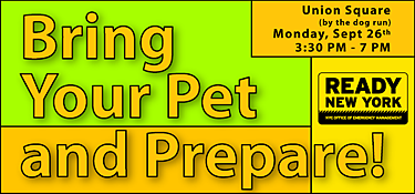 September 26 - Bring Your Pet and Prepare: One-Stop Shop for Pet Preparedness