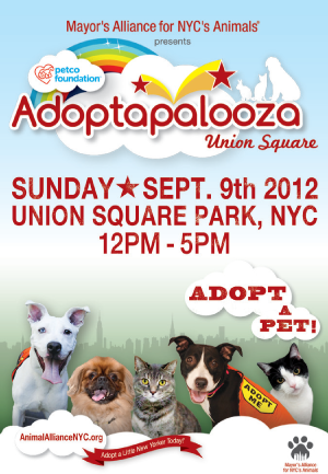 Adoptapalooza Union Square - September 9, 2012