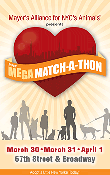 ASPCA Mega Match-a-Thon - March 30, March 31, April 1, 2012