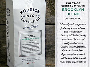 Kobrick Coffee Fair Trade Certified Organic Brooklyn Blend