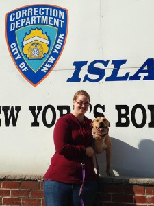 Farrell, Starr, and their Glen Wild Animal Rescue handlers visit Rikers Island, 'Home of New York's Boldest,' every week to work with the inmates.