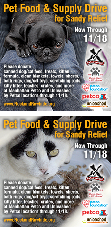 Pet Food &amp; Supply Drive for Sandy Relief