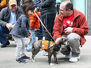 Everyone appreciates David Glicksman's volunteer efforts on behalf of companion animals. (Photo by Devon Santoro)
