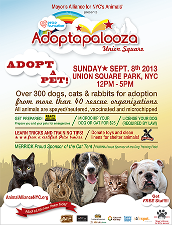 Adoptapalooza Union Square - Sunday, September 8, 2013